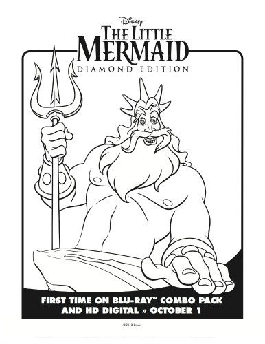 king triton coloring pages - photo#29