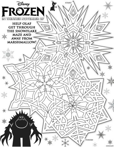 Disney Frozen Printable Olaf and Marshmallow Maze