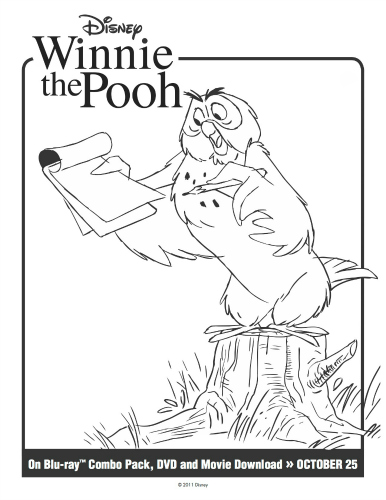 Winnie the Pooh Printable Owl Coloring Page Mama Likes This