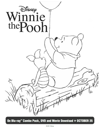 Winnie Pooh piglet coloring page for kids free printable | Disney ... | 500x386