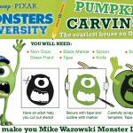 Monsters University Printable Pumpkin Carving Template – Mike Wazowski