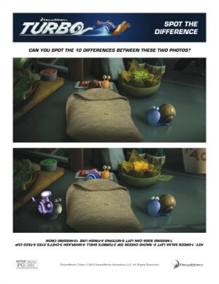 Turbo Printable Spot the Difference Activity Pages