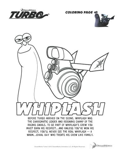 Turbo Whiplash Printable Coloring Page