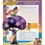 Disney Jake and the Neverland Pirates Family Tree Craft