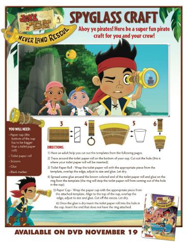 Disney Jake and the Neverland Pirates Spyglass Craft