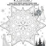 Disney Frozen Printable Anna and Elsa Maze