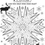 Disney Frozen Sven and Olaf Maze
