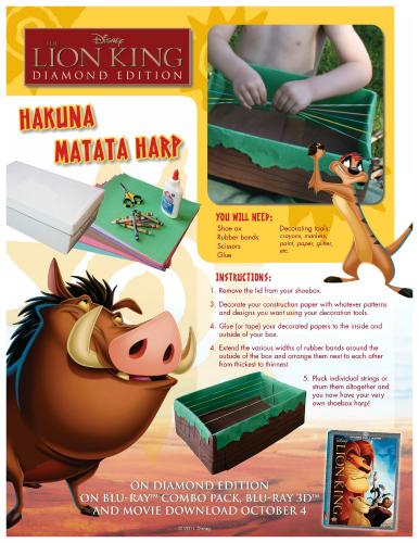 Lion King Hakuna Matata Harp Craft