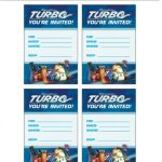 Turbo Printable Party Invitations and Thank You Cards