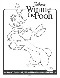 Disney Winnie the Pooh: Rabbit Printable Coloring Page