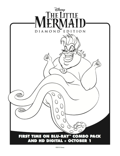 Little Mermaid Ursula Coloring Page