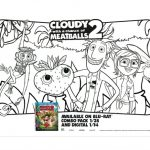 Cloudy with a Chance of Meatballs 2 Printable Coloring Page