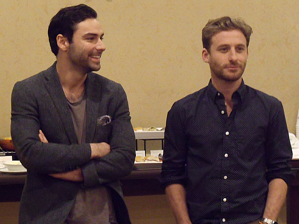 Aidan Turner and Dean O'Gorman from The Hobbit