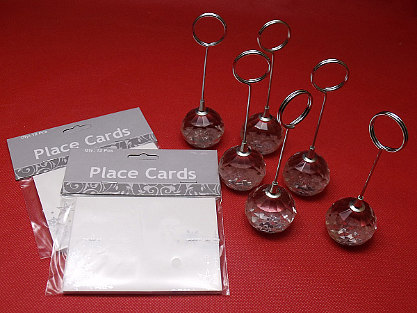 Crystal Place Card Holders