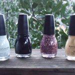 SinfulColors Holiday Tinsel and Sheer Luster Glitter Nail Polish