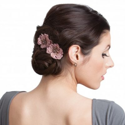 Andrea's Beau Flower Hair Clip Set