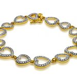 Heart Link Bracelet with Diamonds – $19 with Free Shipping!