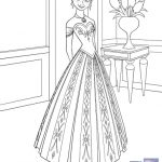 Printable Disney Frozen Anna Coloring Page