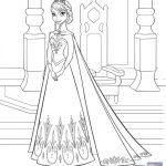 Disney Frozen Printable Coloring Page – Elsa