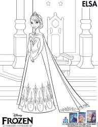 Disney Frozen Printable Coloring Page - Elsa