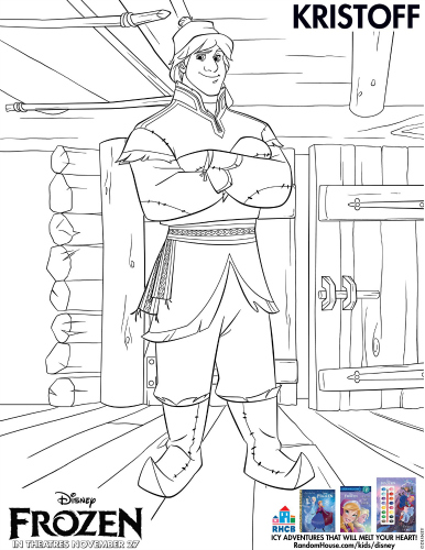 Free Printable Disney Frozen Kristoff Coloring Page #disney #frozen #freeprintable #coloringpage #kristoff