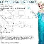 Disney Frozen Printable Snowflake Craft