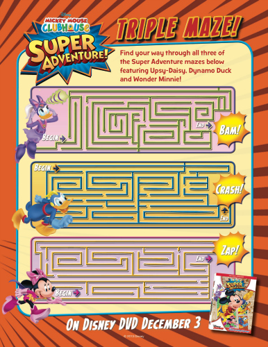 Disney Mickey Mouse Clubhouse Printable Maze