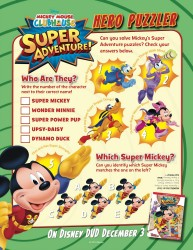 Disney Mickey Mouse Clubhouse Super Adventure Printable Puzzler Activity