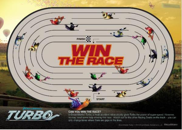 Turbo Race Printable Maze