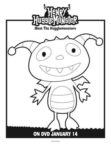 Henry Coloring Page Hugglemonster Likes This