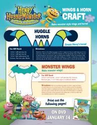 Henry Hugglemonster Printable Craft - Huggle Horns and Monster Wings