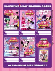 Minnie Mouse Printable Valentine's Day Cards