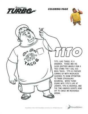 Turbo Printable Tito Coloring Page