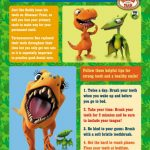 Dinosaur Train Printable Teeth Tips Poster