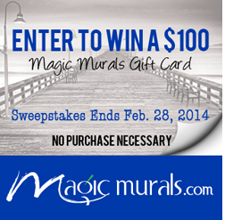 Magic Murals $100 Gift Card Sweepstakes – Ends 2/28/14