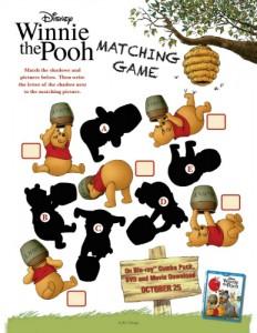 Winnie the Pooh Printable Matching Game