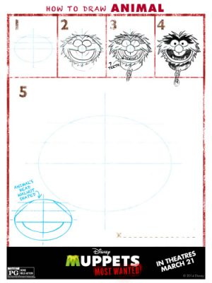 Muppets Most Wanted Printable – How to Draw Animal