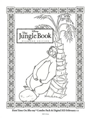 Disney The Jungle Book Printable Baloo Coloring Page