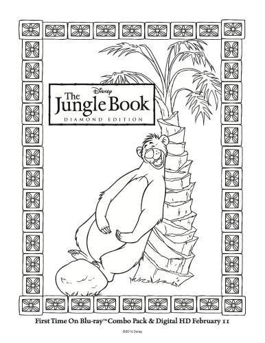 Disney The Jungle Book Printable Baloo Coloring Page
