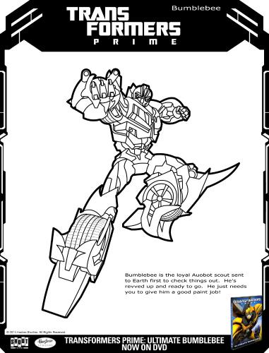 Transformers Prime: Ultimate Bumblebee Printable Coloring ...
