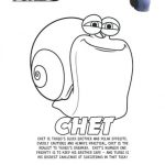 Turbo Printable Coloring Page – Chet