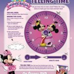 Free Printable Clock Craft – Disney's Mickey Mouse Clubhouse Minnie-rella