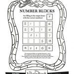 Disney Jungle Book Printable Number Blocks Puzzle