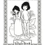 The Jungle Book Printable Coloring Page – Mowgli and The Girl