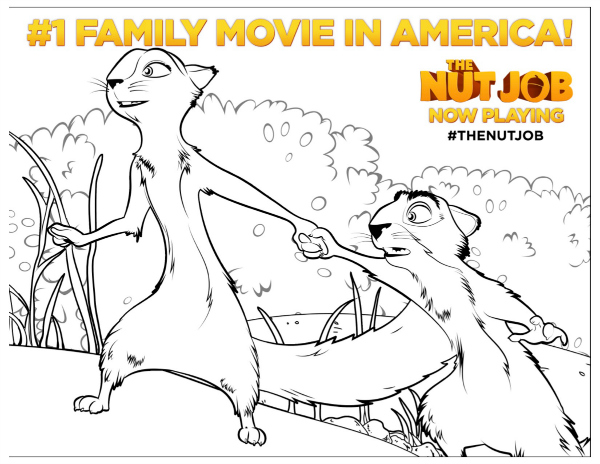 The Nut Job Coloring Pages - GetColoringPages.com | 464x600
