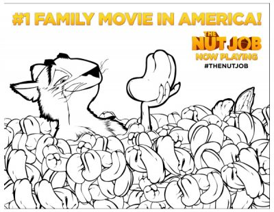 The Nut Job Free Printable Coloring Page