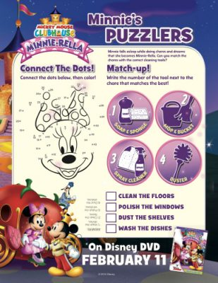 Minnie Mouse Printable Puzzlers