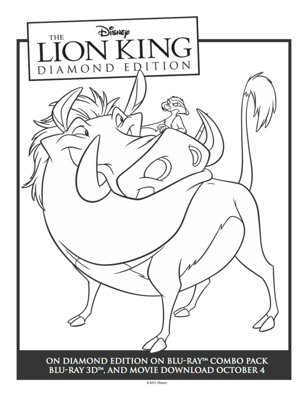 Lion king timon and pumbaa coloring pages - photo#15