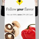 California Pizza Kitchen Sweepstakes and Valentine's Day Deal