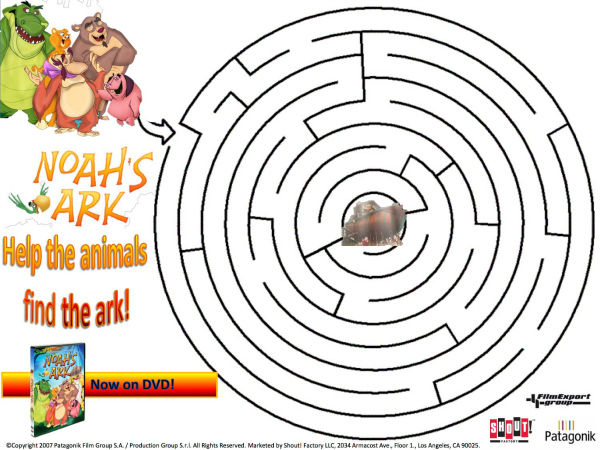 photo relating to Free Printable Pictures of Noah's Ark referred to as Noahs Ark Printable Maze Mama Likes This